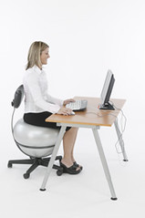 Executive Ball chair (FunnyBiz) Tags: chair ergonomics officechair exerciseball funnybusiness ballenvy