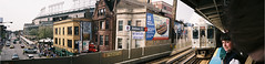 Addison Street Station, Wrigley Field, Chicago, Illinois (thstrand) Tags: panorama sports unitedstates baseball 2006 el entertainment transportation wrigleyfield recreation chicagocubs subways elevatedtrain mlb addisonstation chicagoillinois 21stcentury majorleaguebaseball baseballparks compositephotos americancities toddstrand uscity