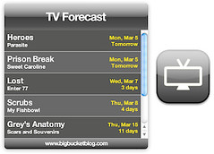 TV Forecast Dashboard Widget