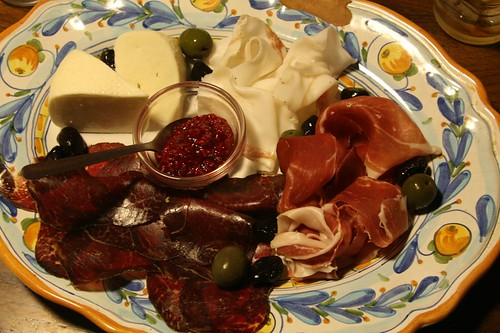 Husbear's idea of a pre-dinner snack