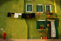 the green house (flamed) Tags: venice house green greenhouse charming quaint venezia burano greenhouseeffect colourfulhouse
