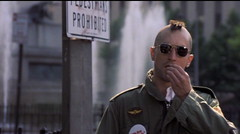 TAXI DRIVER Travis Bickle (4mediafactory) Tags: newyork sunglasses death dvd pain blood marine gun loneliness 26 taxi timessquare hate depression pedestrians travis travisbickle taxidriver martinscorsese insanity disturbing capture insomnia psychotic paranoia 1976 bickle dvdcapture robertdeniro intolerance vietnamvet headshaving dvdcaptures newyorkcab 3rdchoice newyorktaxi hopelessness youtalkintome v5000 pornotheater openhydrant talktomirror prohibeted