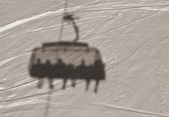 Shadow on the wall (boersenbalou) Tags: ski alps Österreich austria skiing panasonic skiurlaub skifahren vorarlberg bregenzerwald fx07 damuels