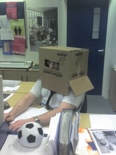 its a picture of me in a box!