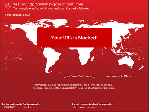 k-government bloqueado en china