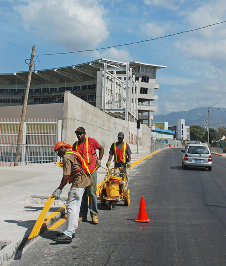 Finishing touches at Sabina Park