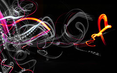 led trails (CowGummy) Tags: longexposure light lightpainting night colours led oxford swirly cowgummy dwcfflightpaint