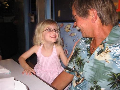 She adores her Grandpa!