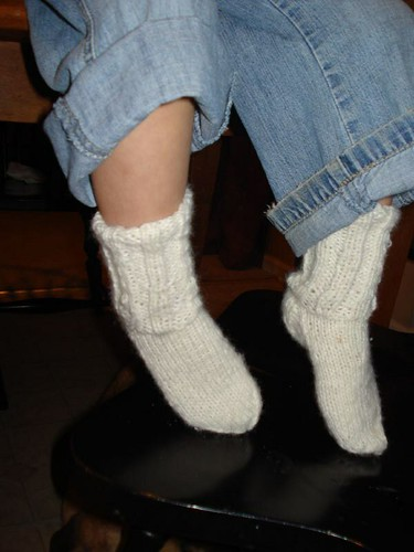 1st Pair o knitted Socks