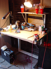 Pauls old airbrushing station