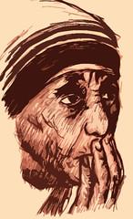Madre Teresa de Calcuta (JBF mx) Tags: portrait retrato iglesia drawings catholicchurch dibujos ilustraciones jbf religincatlica madreteresadecalcuta