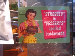 stressed (rick) Tags: sanfrancisco sign cake dessert retro desserts backwards stressed 2007 pazzo