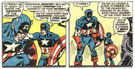 Captain America #221 - Ameridroid stops being a nazi