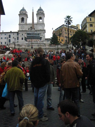 The Spanish Steps, covered in Welsh