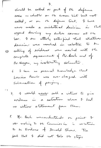 Page three of Taylors statement to Dean