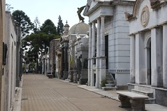 Recoleta Cemetery resembles a small city street