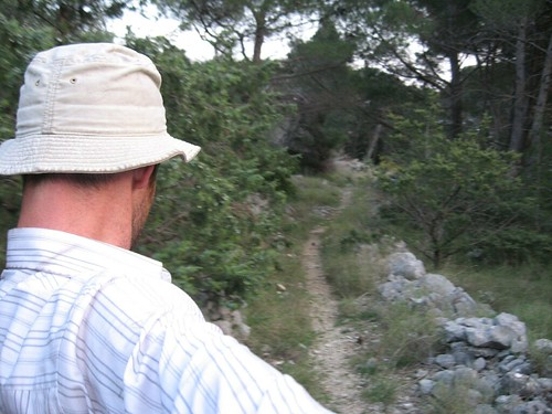 Looking for land mines in Gradac, Croatia