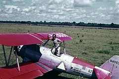 Dad & Stearman, 1964 (HDQH) Tags: rural vintage dad texas aircraft planes boeing edna stearman cropdusting bollweevil deltaairlinesinc hdqh agdivision drcoad deltadusters