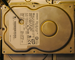 Hidden Screws on a Hard Drive