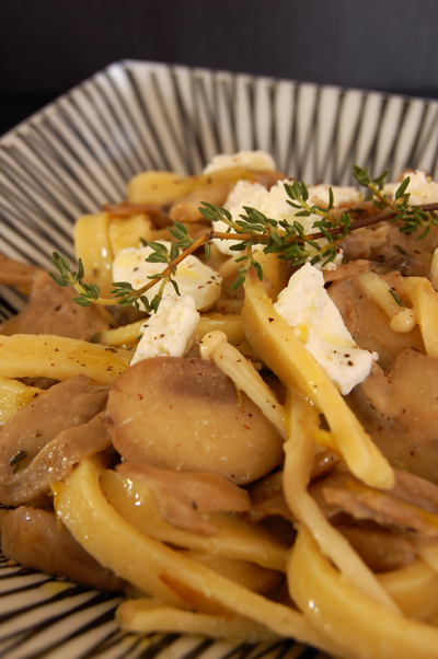 Fettucine with Mixed Mushrooms and Chèvre© by haalo