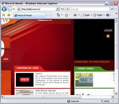 Page d'accueil de dailywom.tv