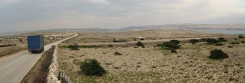 Rocky landscape on Pag Island, Croatia