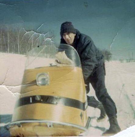 Snowmobilin'.