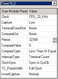 PSoC 16bit Timer