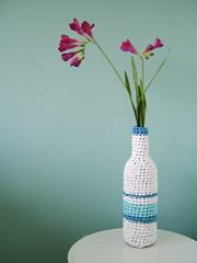 poşetten örme vazo