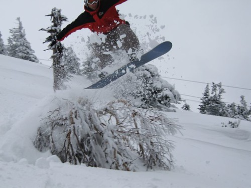 Surfing on Powder