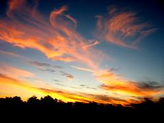 Flaming sky (Igor Alecsander) Tags: sunset sky argentina colors clouds skyscape fire bravo cielo nubes nuvens puestadesol ceu flaming carwindow pordesol santiagodelestero thebestbravo specsky abigfave flickrdiamond