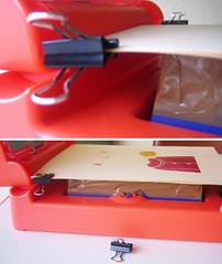 DIY (*Juliabe) Tags: ink diy screenprinting gocco layers register doityourself invento homemaderegisteringsystem