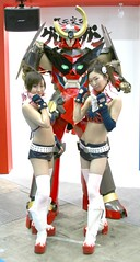 Booth Babes (vyxle) Tags: girls anime cute girl japan tokyo robot costume cosplay tengen machine hotties boothbabes yoko mecha mech bandai lagan taf laggan toppa guren gurrenlagann tokyoanimefair gurren lagann gurenn