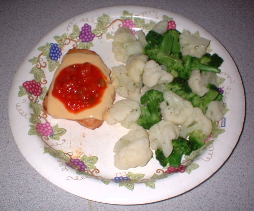 NutriSystem Chicken Breast Patty dinner with extras