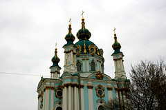 St Andrew's Church in Kiev, Ukraine (Apr 2007) (Cor Lems) Tags: canon eos europe 300d post ukraine east communism april bloc eastern kiev kyiv oekraine