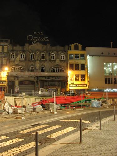 At night in Porto