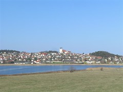Tihany Peninsula with the inner lake and Benedictine Abbey (elisabatiz) Tags: hungary tihany lakebalaton
