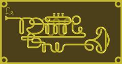 Trompetone (chastinet) Tags: typography trumpet illustrator typo tipografia