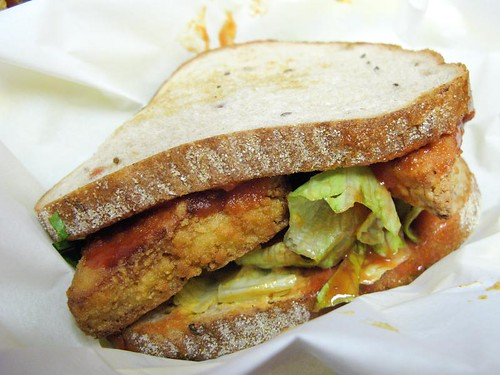 Veggie Bite. Fake Buffalo on Rye.jpg