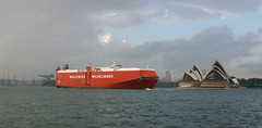 Cargo ship (phil_h) Tags: ship sydney australia operahouse sydneyharbour sydneyoperahouse milsonspoint cargoship