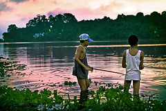 Fishermen of illusions... (carf) Tags: poverty light boy sunset brazil lake reflection boys water brasil kids dark children hope kid fishing community support paradise peace child risk darkness sundown peaceful naturallight forsakenpeople esperana social impoverished underprivileged altruism eldorado reservoir haunting development prevention cristian billings atrisk mundouno cleison