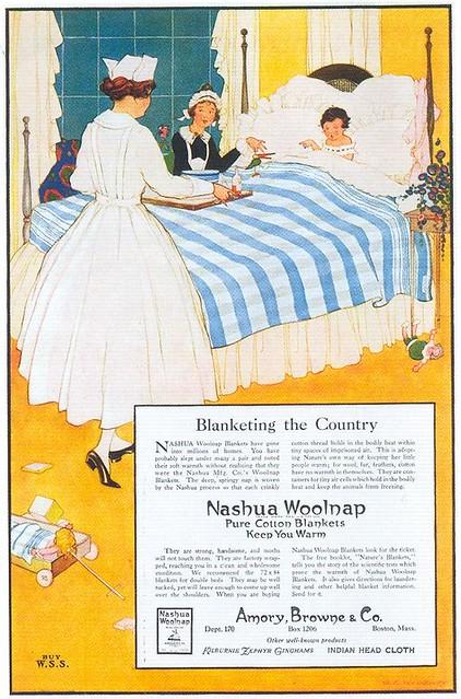 Marjory C. Woodbury, Nashua Woolnap Blankets, 1918