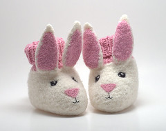 Bunny Booties (kathrynivy.com) Tags: baby rabbit bunny felted knitting toddler infant felting knit felt grace booties babybooties fibertrends