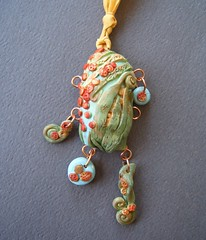 From the Garden of  Curiosities (gabriel studios) Tags: clay handpainted etsy charms pendant polymer pcagoe gabrielstudios augustabs