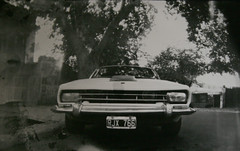 Pinhole camera  (7') (`Vorfas) Tags: camera old portrait woman man car sepia torino photography scary couple with spirit ghost enigma pinhole creepy spooky photograph phantom paranormal spectre apparition mycar unaware estenopeica fantasmas espritu phantasm cmara siglo spiritualism entes comahue captionable