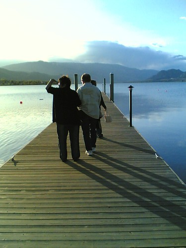 My parents on the dock