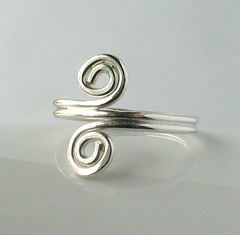 Soldered silver ring