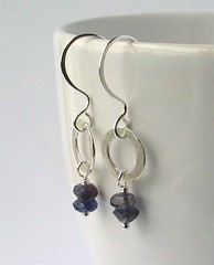 Iolite & silver earrings