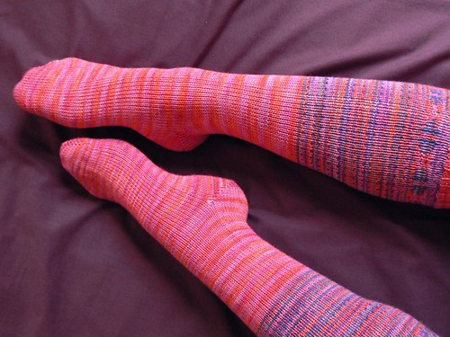 pink knee high socks FO