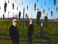 My Own Golconda (tribute to René Magritte on digital charcoal) (Master Mason) Tags: art painting psp arte artistic surrealism fake surreal magritte charcoal paintshoppro tribute genius multiplepersonality surrealistic golconda mastermason lanouvellerevolutionsurrealiste ci33 superbmasterpiece tributetorenemagritte